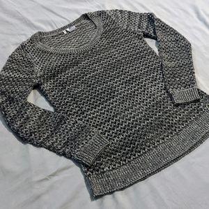 Studio Y Metallic Open Knit Sweater